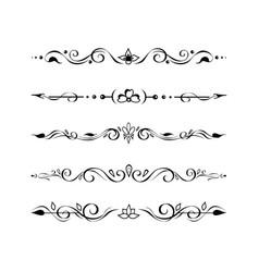 ornate retro text dividers borders vignettes set vector image