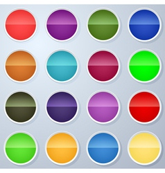 Paper buttons collection vector image