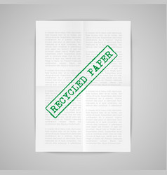 Paper note with warning sign vector