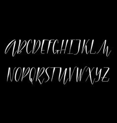pen handwritten alphabet vector image