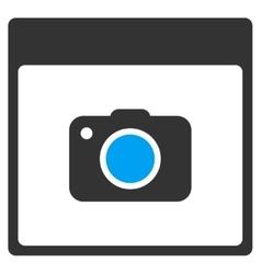 Photo Camera Calendar Page Toolbar Icon vector image