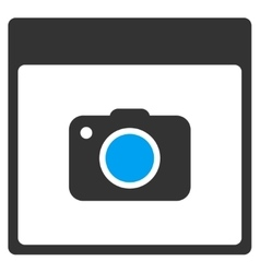 Photo Camera Calendar Page Toolbar Icon vector