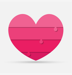 piece puzzle heart jigsaw medical infographic love vector image