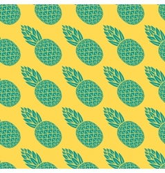 pineapple tropical fruit seamless pattern vector image