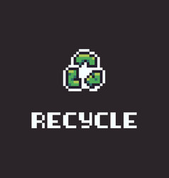 Pixel art recycle vector