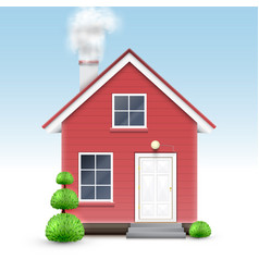 realistic house vector image