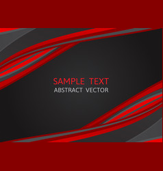 red and black color abstract background with vector image