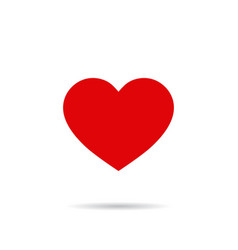 red heart shapelike icon social media icon red vector image