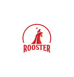 Rooster company logo template design vector