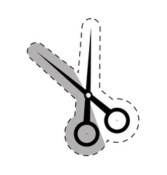 school scissors thin line vector image
