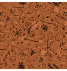 seamless pattern with spices vector image