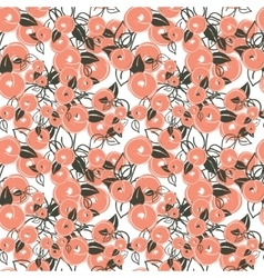 seamless pattern with stylization peach vector image