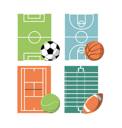 set concept icon court sport vector image