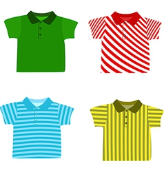Set of Boys shirts vector
