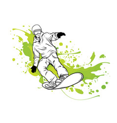 snowboarder winter sport vector image