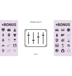 sound mixer console icon - graphic elements for vector image