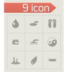 spa icon set vector image