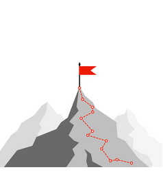 success route path to top mountain business vector image