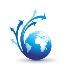 Swirl arrow globe vector