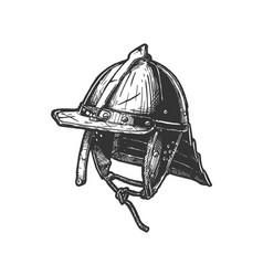szyszak type post-renaissance combat helmet vector image
