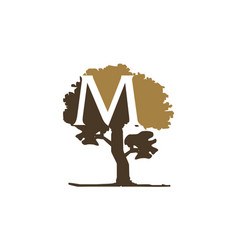Tree letter m vector