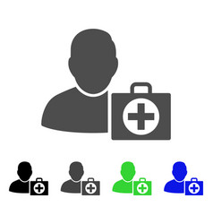 User first aid flat icon vector