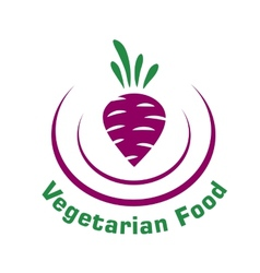 Vegetarian food icon with beetroot vector image