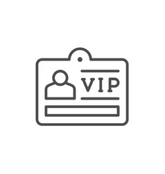 Vip card line outline icon vector