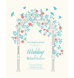 Wedding rose arch vector image