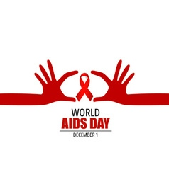 World AIDS Day 1st December World Aids Day poster vector