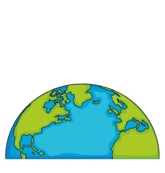 World eart globe isolated vector