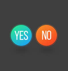 Yes and no button icons isolated on grey vector