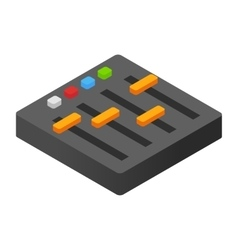 Audio mixer isometric 3d icon vector image