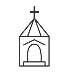 church wedding line icon sign vector image vector image