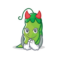 devil peas mascot cartoon style vector image