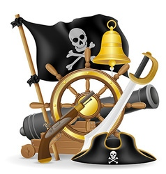 pirate concept icons 01 vector image vector image