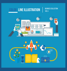 Start up business and finance strategy marketing vector