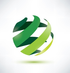 abctract green globe icon ecology and nature conce vector image vector image