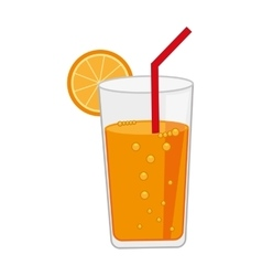 citrus juice isolated icon design vector image