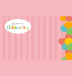 collection childrens day cute background vector image vector image