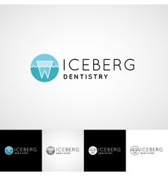 Creative dental logo template Teethcare icon set vector image vector image