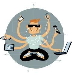 Internet superhero vector image