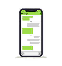 phone screen with chat discussion messages vector image