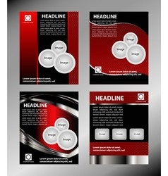 Red brochure booklet cover design templat vector image