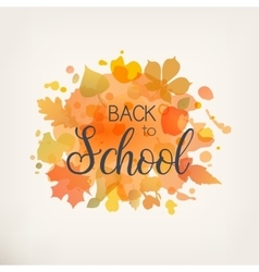 Back to Scool vector image