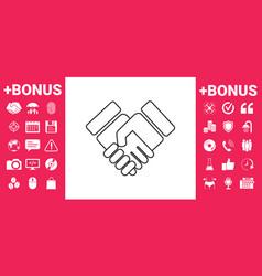 handshake symbol icon vector image