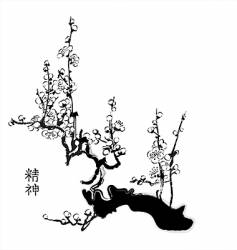 sacra Chinese painting vector image vector image
