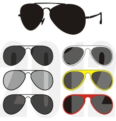 sunglasses trendy collection vector image vector image