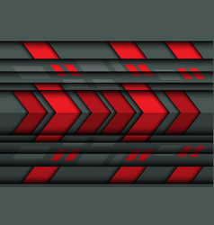 abstract red arrow speed on gray metal 3d vector image vector image