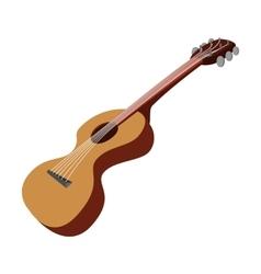 Guitar cartoon icon vector image